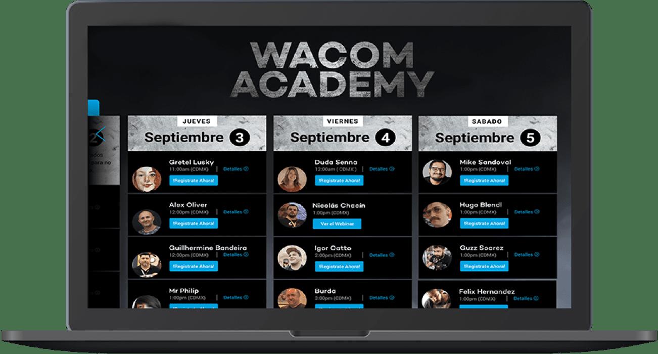 Wacom Academy e-Fest banner